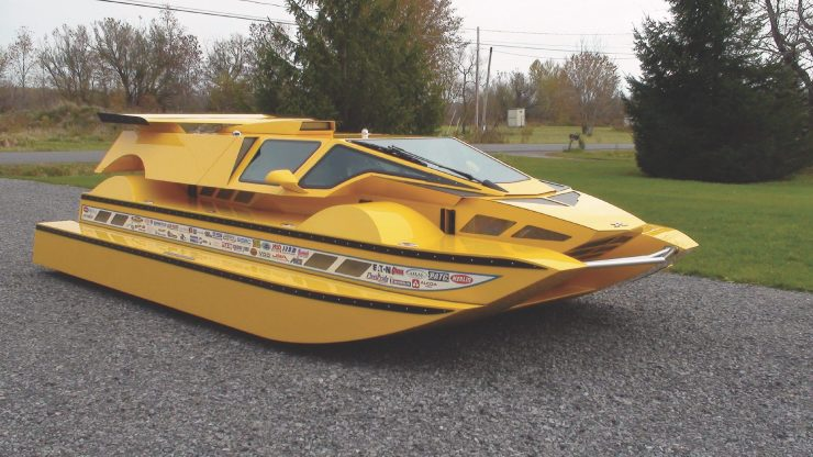 Amphibious Hydrocar 3 740x416 - The Amphibious Dobbertin HydroCar - A $1 Million Dollar 762 HP Boat/Car Hybrid