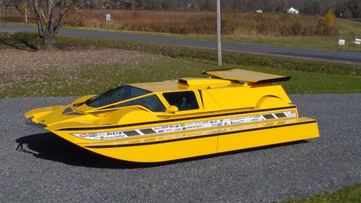 Amphibious Hydrocar 4 740x416 - The Amphibious Dobbertin HydroCar - A $1 Million Dollar 762 HP Boat/Car Hybrid