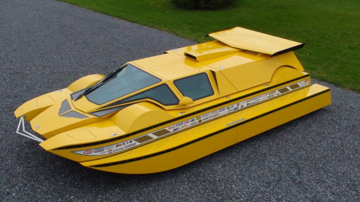 Amphibious Hydrocar 7 740x416 - The Amphibious Dobbertin HydroCar - A $1 Million Dollar 762 HP Boat/Car Hybrid