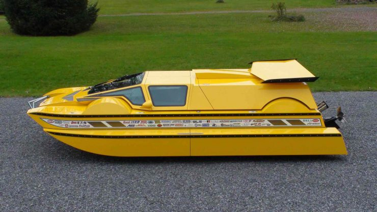 Amphibious Hydrocar 8 740x416 - The Amphibious Dobbertin HydroCar - A $1 Million Dollar 762 HP Boat/Car Hybrid