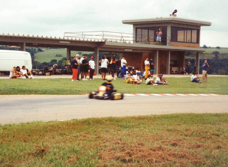 Ayrton Senna Driving A Go Kart
