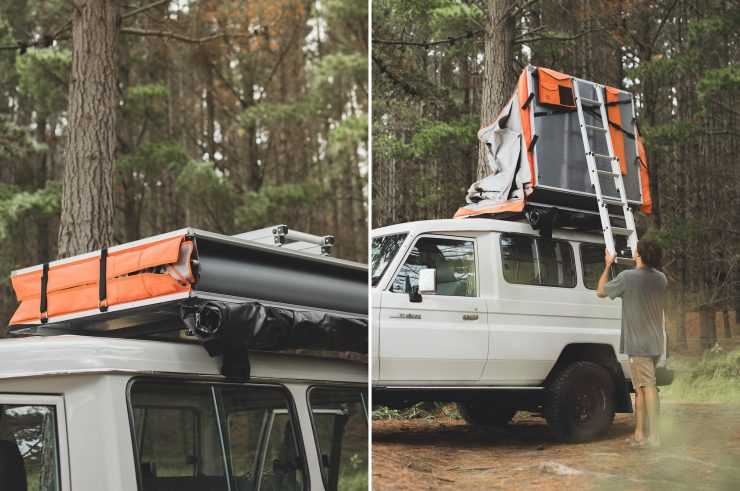 Crow's Nest Two-Person Rooftop Tent by Feldon Shelter 2