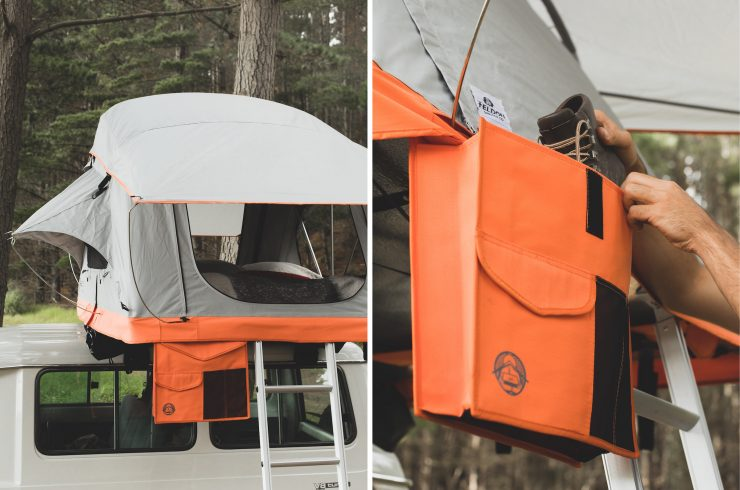 Crow's Nest Two-Person Rooftop Tent by Feldon Shelter 3