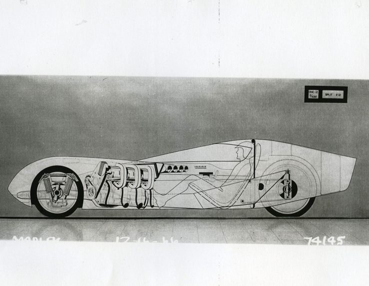 General Motors Three-Wheeler Designed By Peter Maier X-Ray