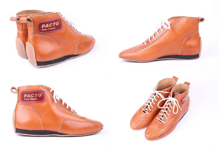 Pacto Racing Boots Collage