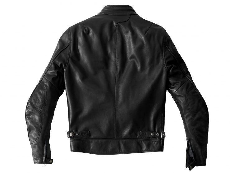 Spidi Rock Motorcycle Jacket - An Armored Italian Buffalo Leather Jacket Back