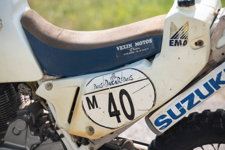 Suzuki DR650 Paris-Dakar Rally Seat 1