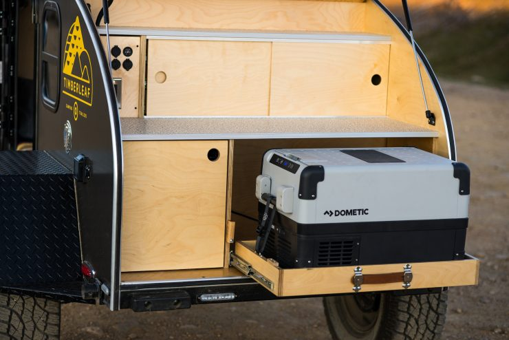 Timberleaf Pika Teardrop Camper Trailer Cooler