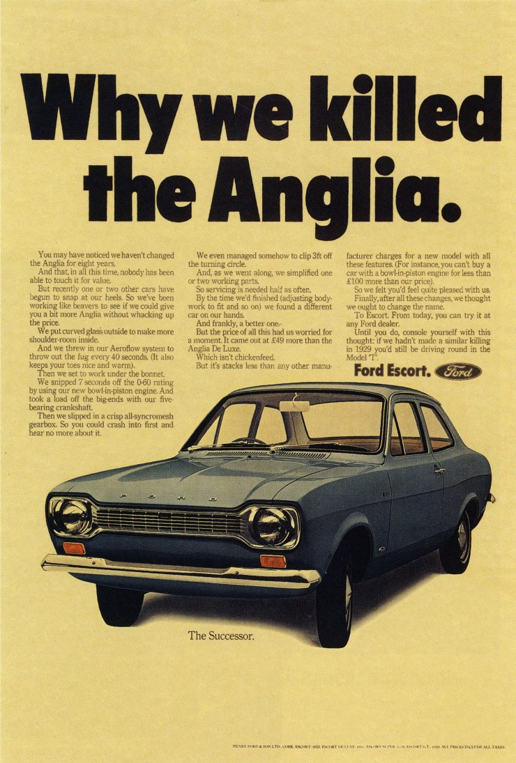 Ford Escort Mk 1 advertisement