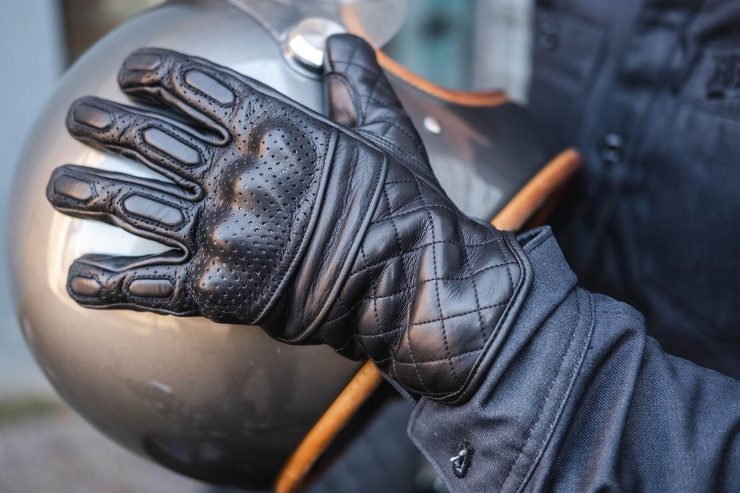 BSMC x Goldtop Motorcycle Gloves Black 2