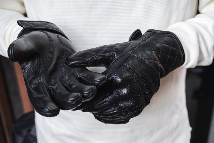 BSMC x Goldtop Motorcycle Gloves Black