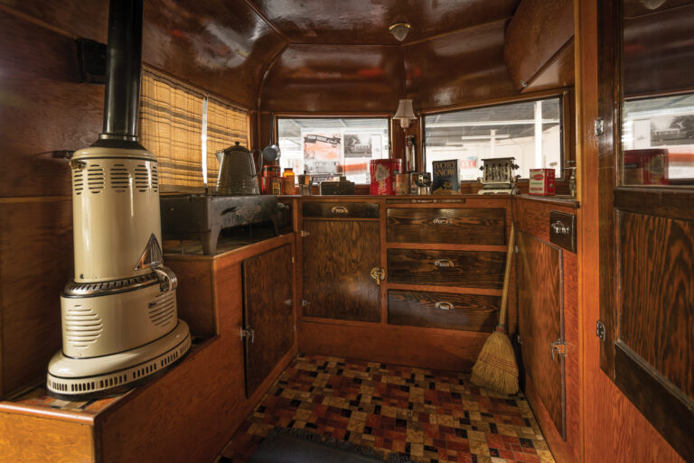 An Original Covered Wagon Company Camping Trailer