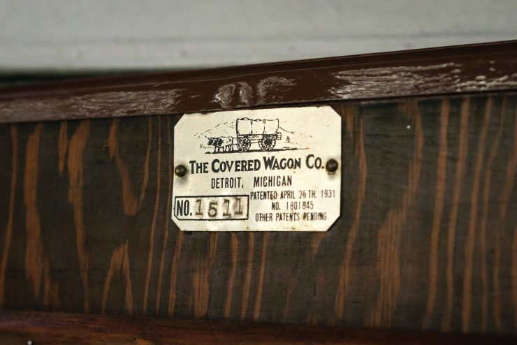 Covered Wagon Company Camping Trailer Sign
