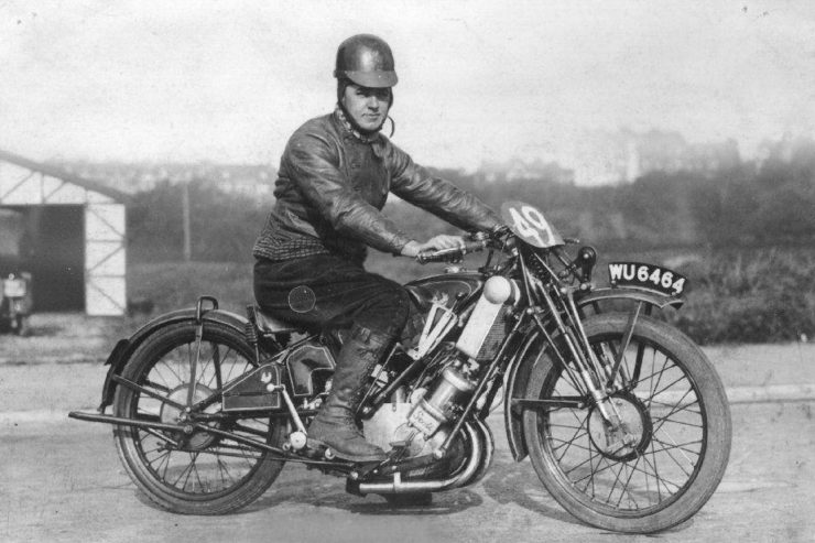 J H Welsby, Isle of Man TT Scott Motorcycle