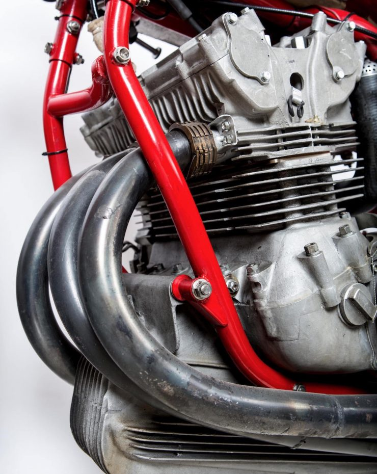 MV Agusta Three-Cylinder Engine Exhaust