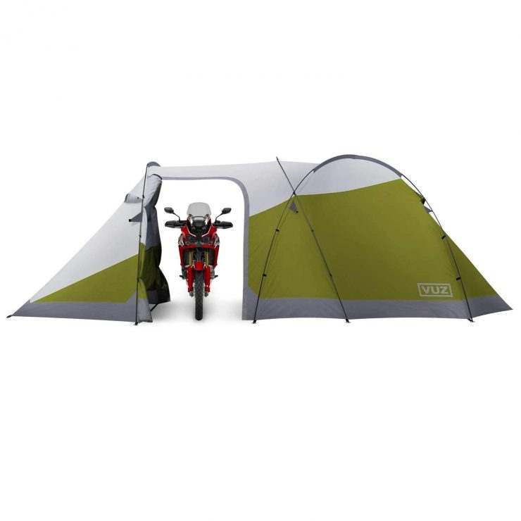Vuz Motorcycle + 3-Person Tent 1