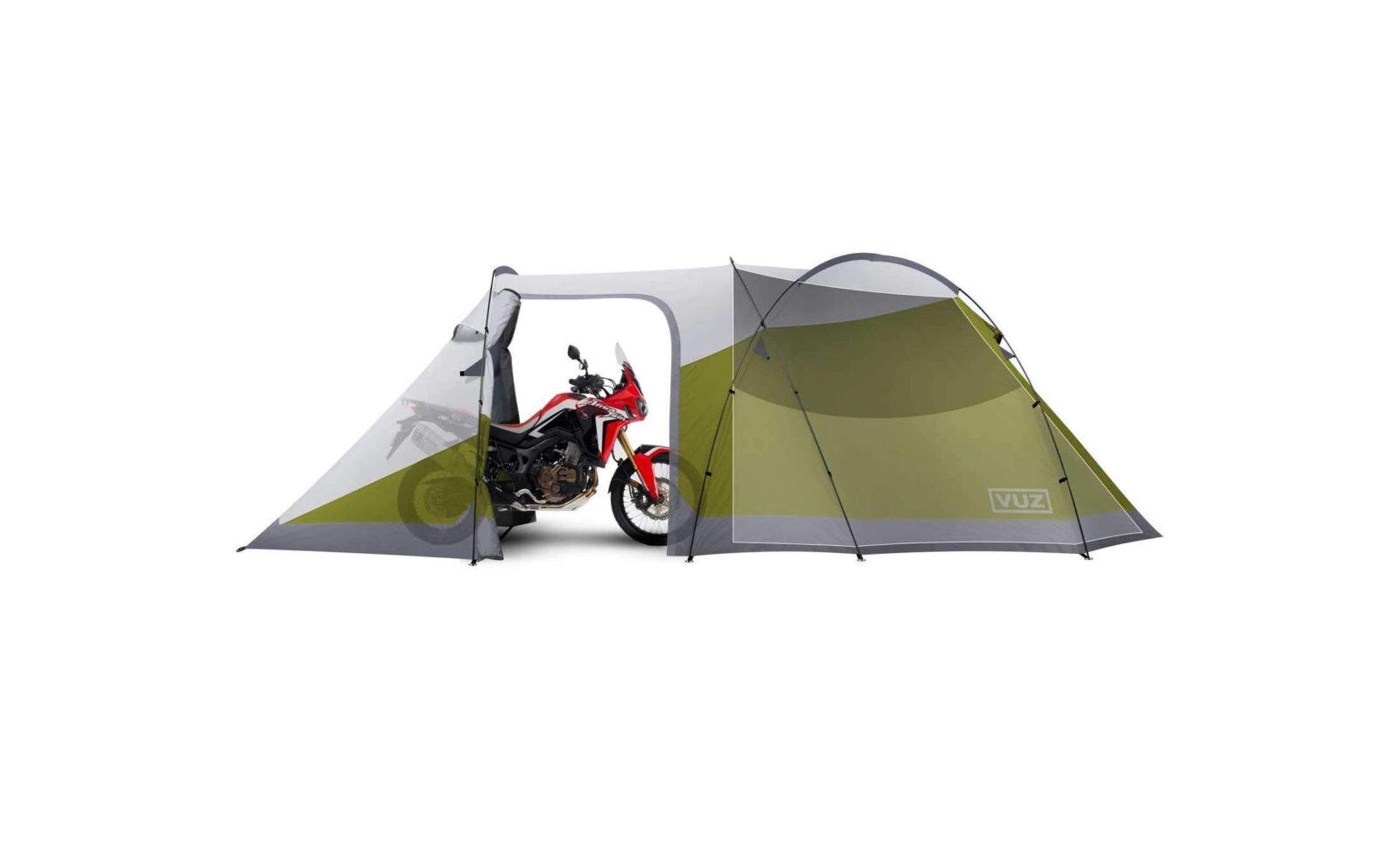 Vuz Motorcycle 3 Person Tent 1600x983 - The Vuz Motorcycle Tent - A Tent With A Garage And Space For 3 People