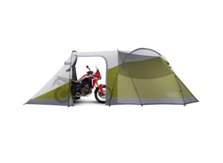 Vuz Motorcycle 3 Person Tent 450x330 - The Vuz Motorcycle Tent - A Tent With A Garage And Space For 3 People