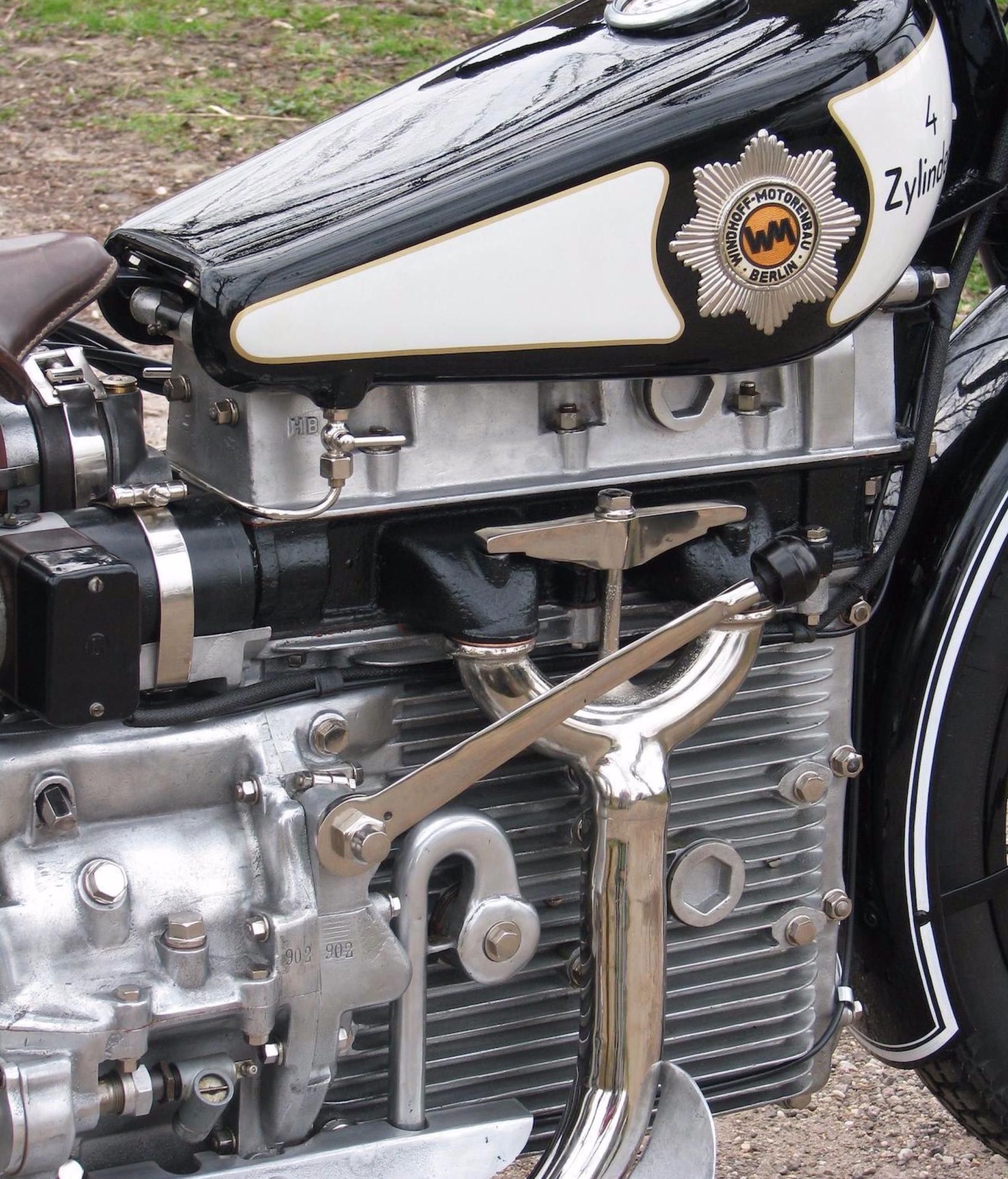 The Windhoff Four Cylinder Motorcycle Of Future From 1926 Engine 1
