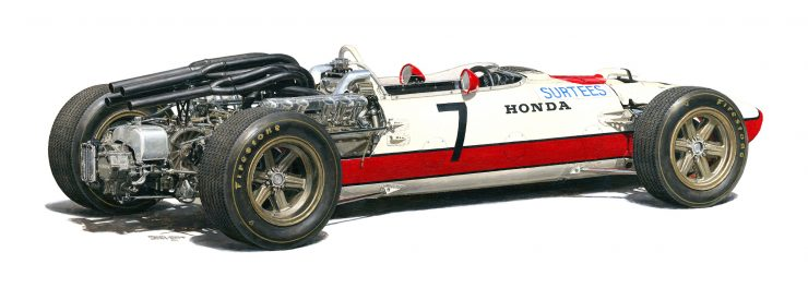 1967 Honda RA273 Formula 1 Car Rear