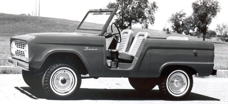 First Generation Ford Bronco Roof Off