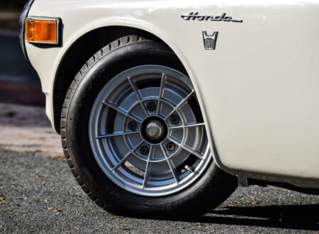 Honda S800 Racing Car Wheel 450x330 - 1 of 2 Ever Made - A Rare Original Honda S800 Racing