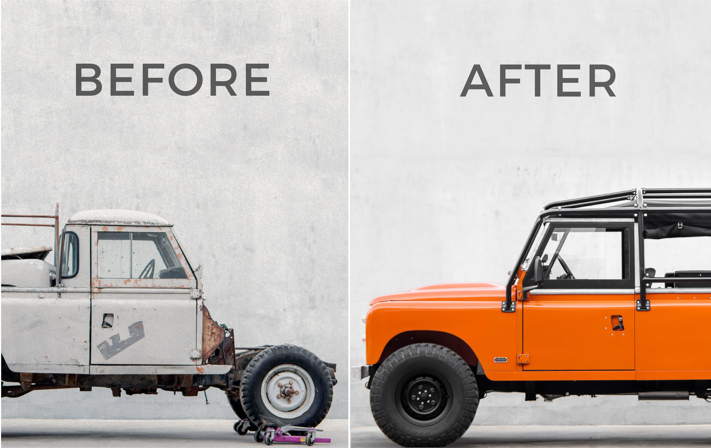 Land Rover Before And After Restoration
