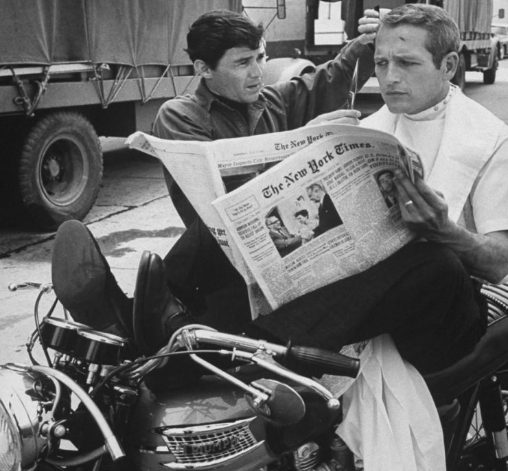 Paul Newman Triumph Motorcycle