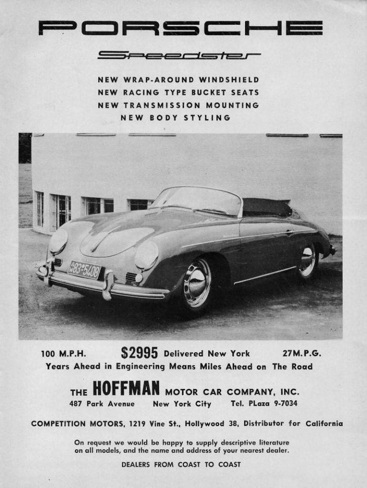 Porsche Speedster Vintage Car Ad