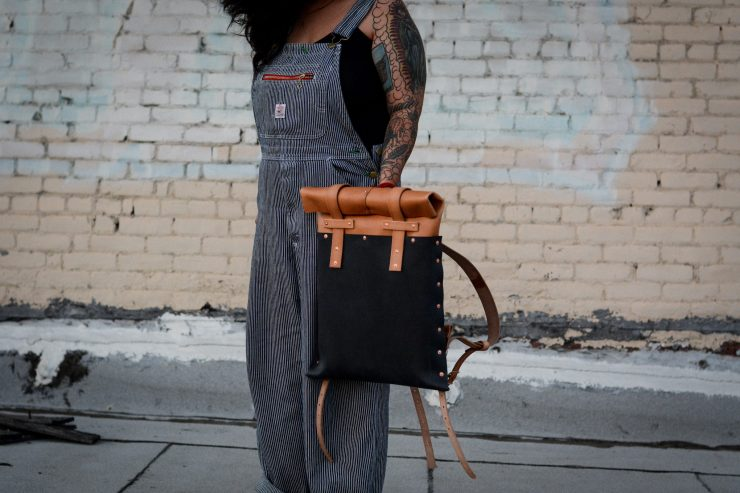 Small Batch Supply Co. Leather Roll Top Backpack 3