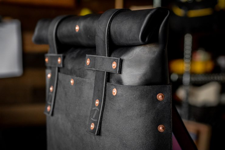 Small Batch Supply Co. Leather Roll Top Backpack