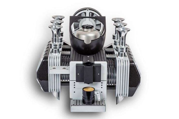Super Veloce Porsche Engine Coffee Espresso Machine