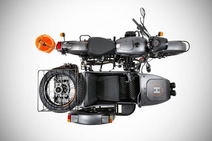 Ural Air LE Sidecar Motorcycle Overhead