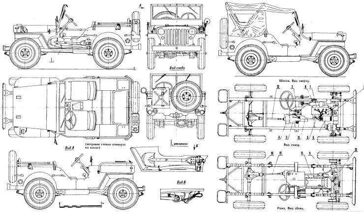 Willys Jeep Blueprints