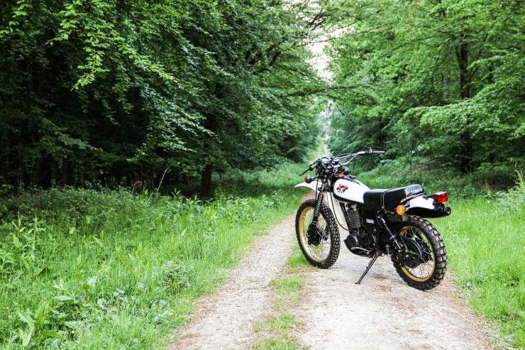 Yamaha XT500 Back