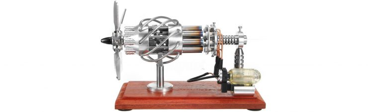 16 Cylinder Stirling Engine Side