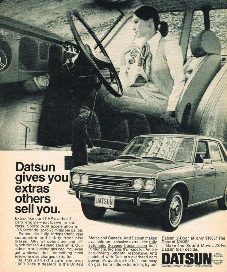Datsun 1600 advertisement