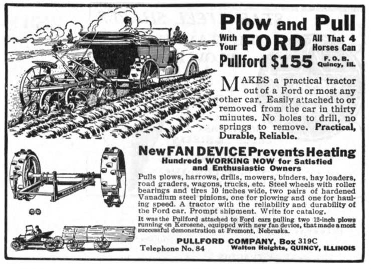 Pullford Ford Model T plow conversion