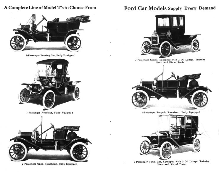 Ford Model T body styles