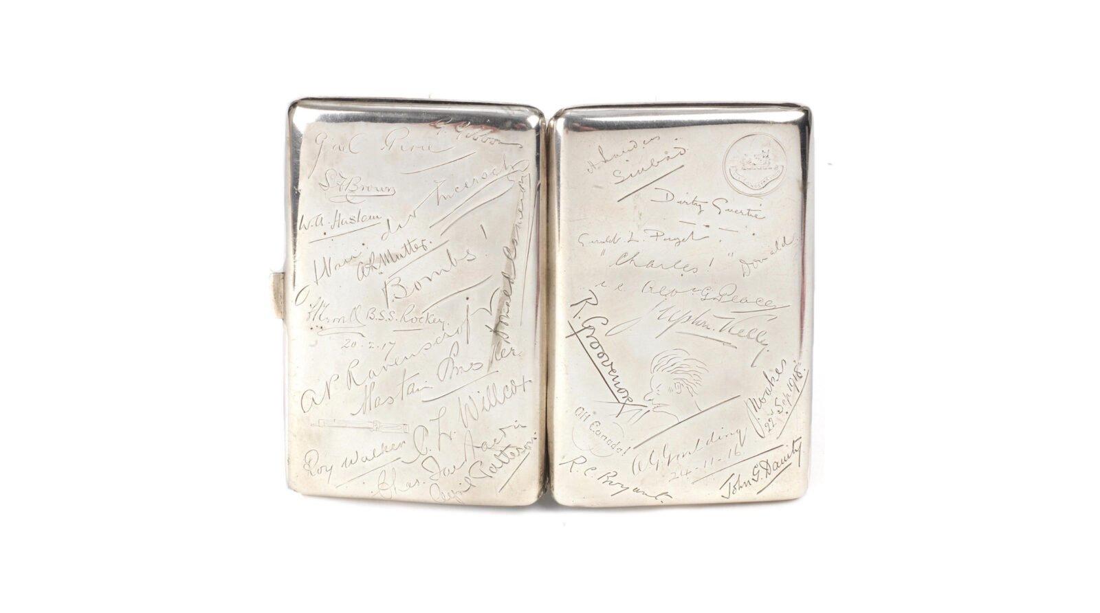 Captain Malcolm Campbell's WWI Silver Cigarette Case