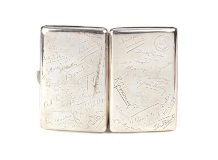 Captain Malcolm Campbell's WWI Silver Cigarette Case