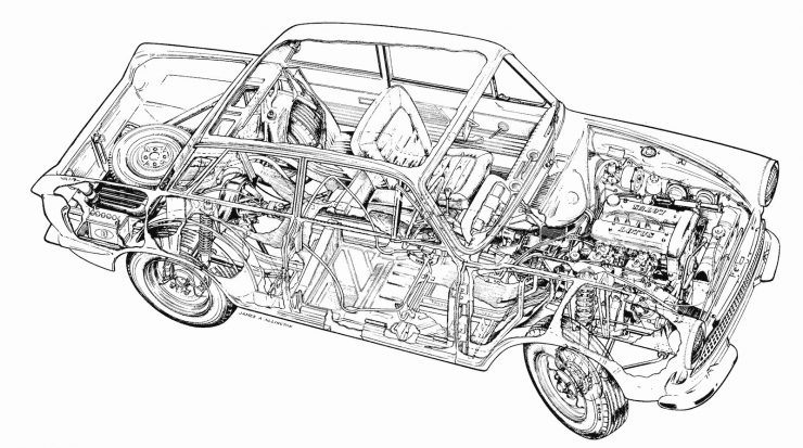 Lotus Cortina Mk1 Cutaway
