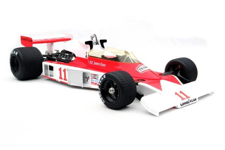 McLaren M23D Japanese Grand Prix F1 Car 740x493 - A 1:8 Scale Model of James Hunt's 1976 McLaren M23D F1 Car - $8,430