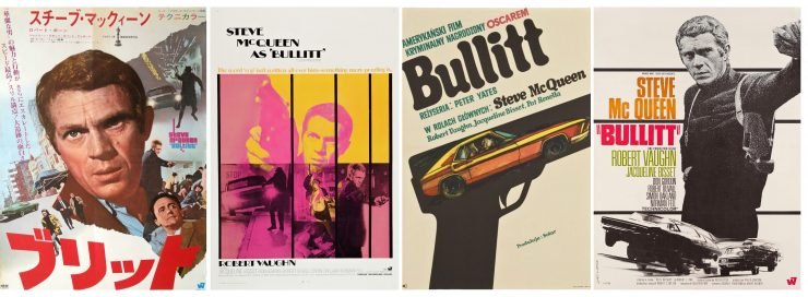Steve McQueen Bullitt Movie Poster Collage