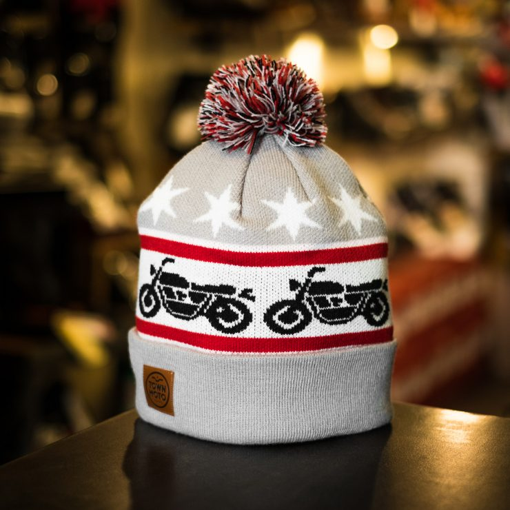 Town Moto Motorcycle Knit Beanie