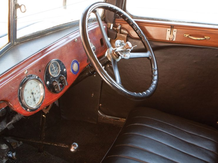 Austin 7 Swallow interior