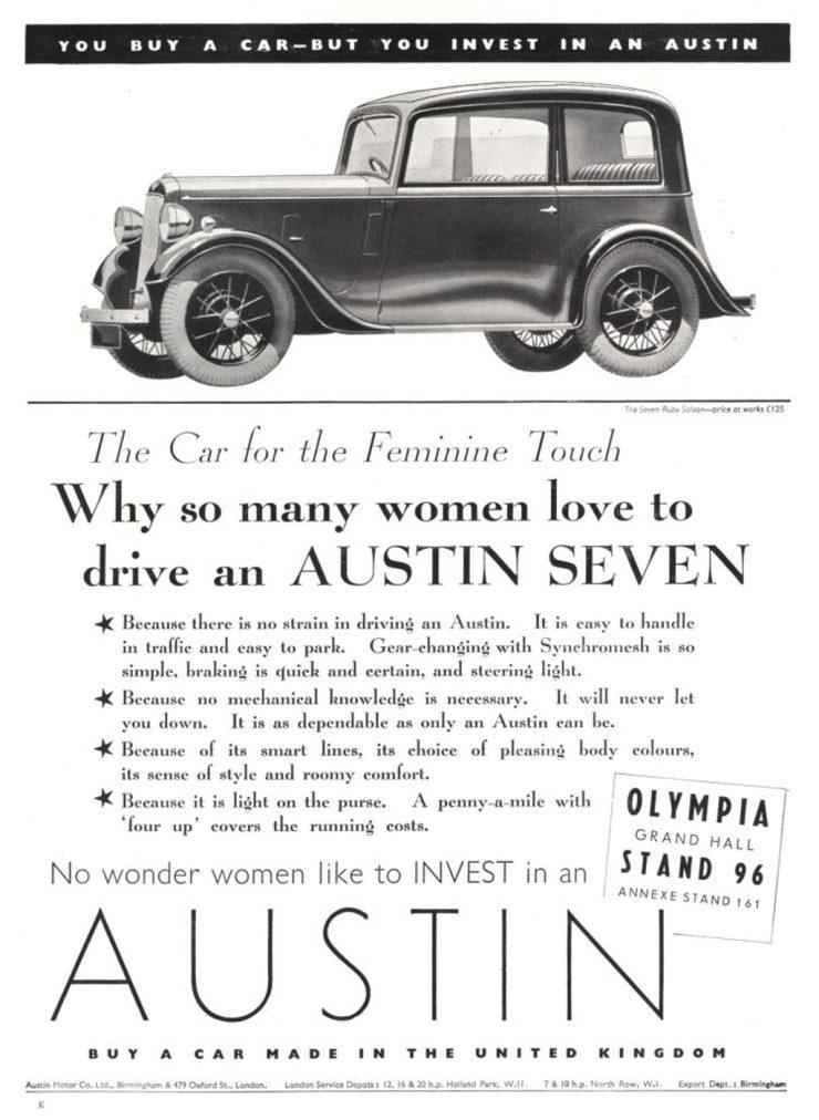 Austin 7 advertisement