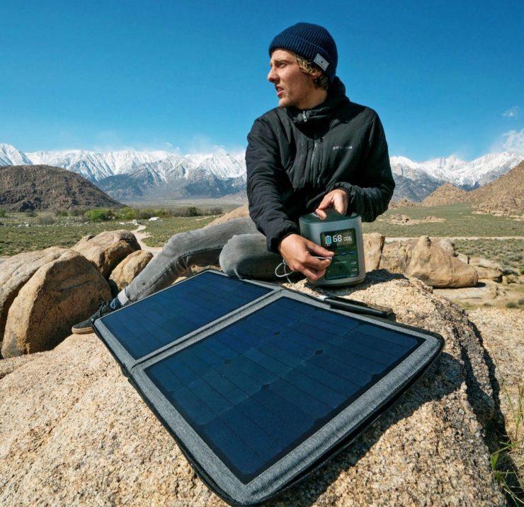 EcoFlow Portable 50W Solar Panel Outdoors