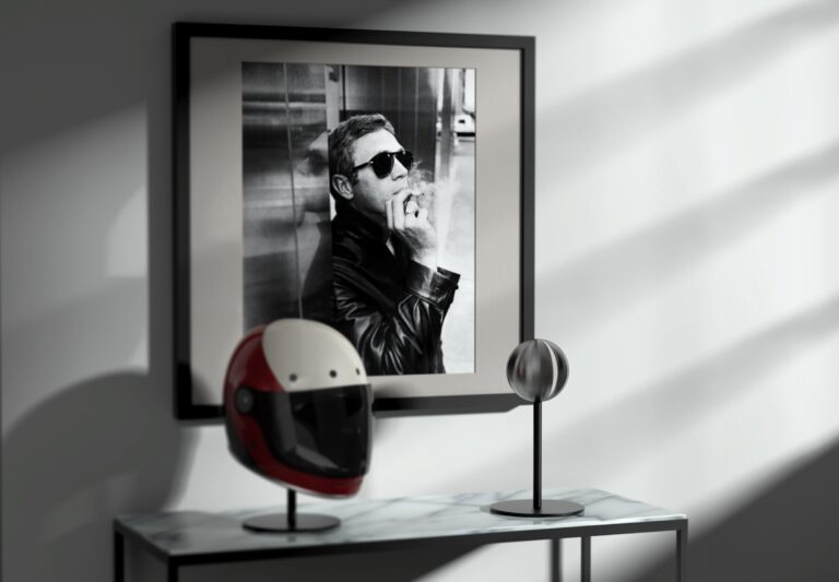 The Halley Helmet Stand A Modern Motorcycle Helmet Stand