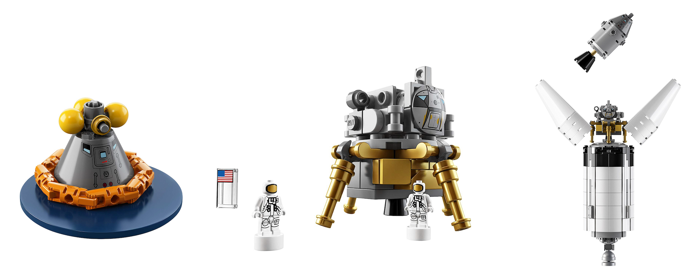 NASA Apollo Saturn V Rocket Lego Kit 4